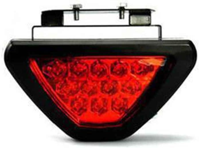 fgyhtyjuu F1 Caisse 12V Universel Rouge Strobe 12 /étanche Racing arri/ère /à LED de Frein Feu Stop Lumi/ère Noire Shell