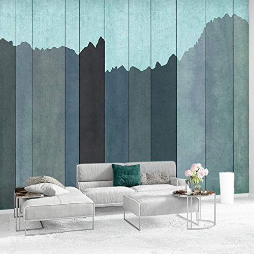 Murals,Custom 4D Wallpaper Creative Series Blue Striped Wooden Board Art Print Wall Painting Hd Print Poster For Tv Backdrop Living Room Bedroom Cafe Home Home Decor Large Silk Mural 200Cm(H)×300Cm(W