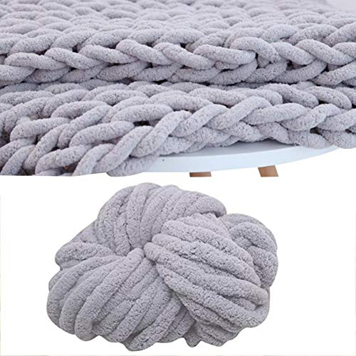 (Luckycyc Baby Blanket Yarn,Chenille Chunky Blanket Big Ball Yarn,Soft Thick Arm Knitting,Crochet Throw Rug Mat Scarf)