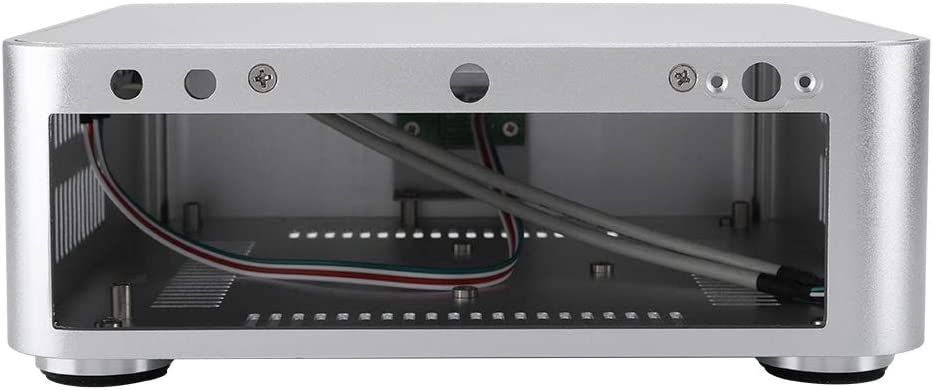 Exliy Mini ITX Case, Mini-ITX Computer Case PC Case, Chasis de Aluminio para computadora