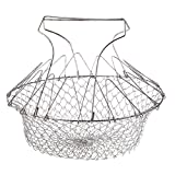 Jili Online Creative Folding Steam Rinse Strain Frying Basket Strainer Washable Kitchen Tool