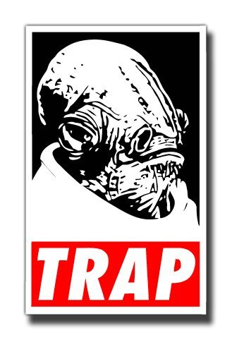 Its a trap admiral ackbar sticker for skateboards snowboards scooters bmx mountain