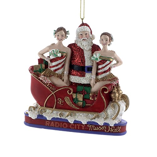 Santa with Rockettes in Sleigh Radio City Music Hall New York Ornament