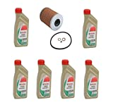 Set of 6 Liters Engine Oil - 10W-60 Synthetic Genuine 07510009420 & 1 Oil Filter Kit Mahle 11427833769 for: BMW E36 E46 M3 E85 E86 Z4