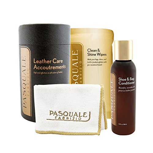 Leather Care Accoutrements - by Pasquale Fabrizio, Worlds Best Shoe Repair & Master Shoemaker - Shoe and Bag Conditioner, Wipes, and Cloth - Leather Care Kit from Pasquale Fabrizio