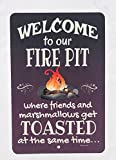 Dye-namic Art Welcome Metal Sign Fire Pit Sign 8x12 Indoor/Outdoor Aluminum Sign Home and Garden Decor