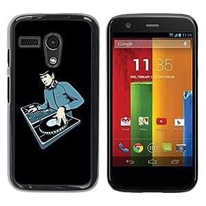 Be Good Phone Accessory // Dura Cáscara cubierta Protectora Caso Carcasa Funda de Protección para Motorola Moto G 1 1ST Gen I X1032 // Space Guy Dj