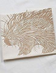 Porcupine Tea Towel - Organic Cotton - Mocha Brown Print - Flour Sack