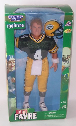 Full 90 Starting Lineup Sports Superstar Collectibles Brett Favre 12in 1998 Edition