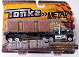 Tonka Metal Diecast Bodies, Big Rig. Flatbed Crate Truck. 1:55th Scale.