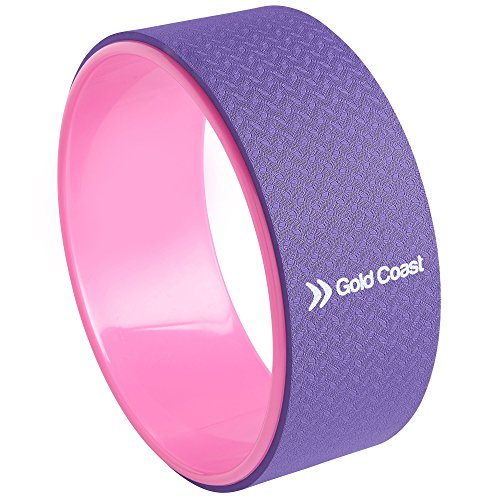 Gold Coast Premium Yoga Exercise Wheel - Stretching, Improving Flexibility, Strength & Balance, Releasing Pain, Muscle Tension & Stress by Gold Coast