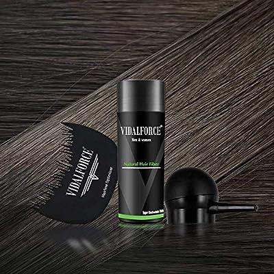 VidalForce Fibra Capilar 27,5g + Bomba + Optimizador/Gris Oscuro/