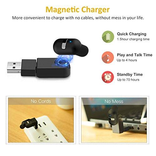 bovon mini couteur bluetooth 4 1 chargeur magn tique sport oreillette sans fil intra. Black Bedroom Furniture Sets. Home Design Ideas