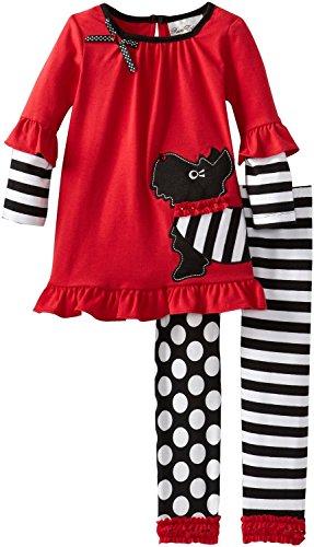 Scottie Dog Dress - Rare Editions Newborn Girl Scottie Dog Set (3m-9m) (6 months)