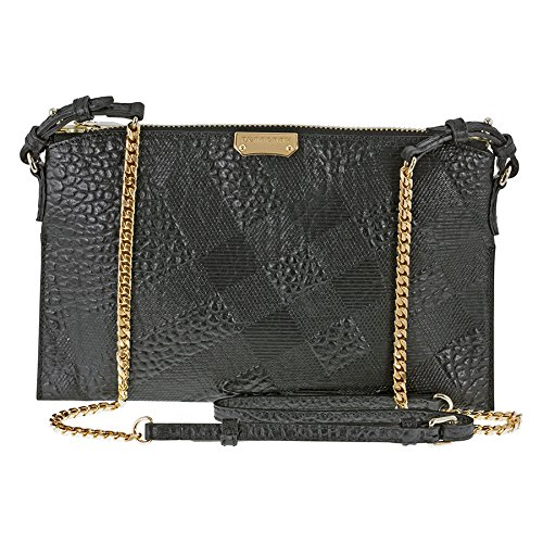 0b4eb717d5ab Burberry Peytone Black Embossed Check Leather Crossbody Bag 3955487   Amazon.ca  Watches