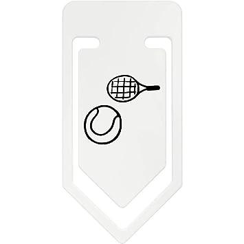 Azeeda 141mm Raqueta de Tenis y Pelota Clip de Papel Plástico ...