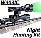 Wicked Lights W403IC Night Hunting Kit With Green Intensity Control LED for Predator, varmint & Hog complete Green led light kit