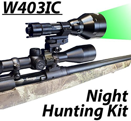 Wicked Lights W403iC GREEN Night Hunting Light Kit for