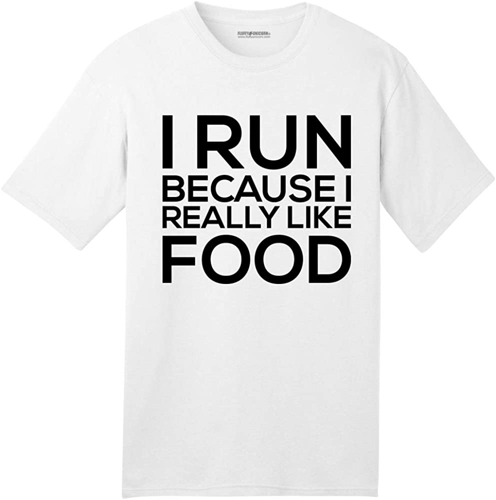 Comical Shirt Men's I Run Because I Really Like Food Funny American T-Shirt