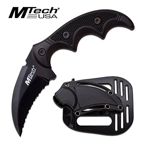Tactical G10 Handle - MTech USA Fixed Blade Tactical Knife G10 Texture Handle with Holster 2 Inch Blade (BLACK)