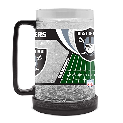 Oakland Raiders 16oz Crystal Freezer Mug Raiders Crystal