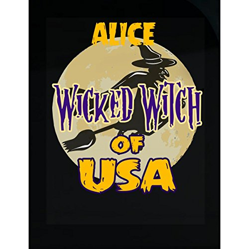(Prints Express Halloween Costume Alice Wicked Witch of USA Great Personalized Gift - Sticker)