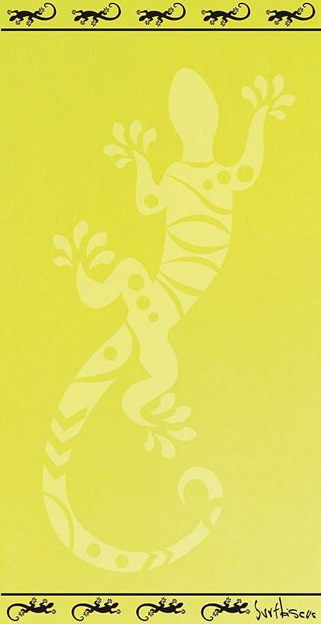 Telo Mare Tinta Unita Salamandra Fluo Asciugamano In Spugna
