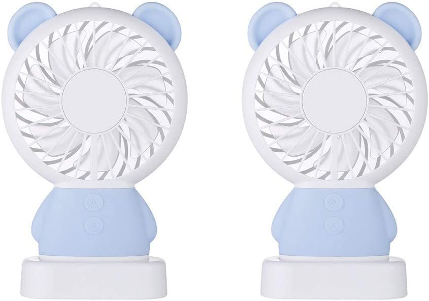 Philoween Travel Mini Fan with 3-13 Hours Battery Life for Camping Personal Battery Operated or USB Powered Handheld Fan Rechargeable