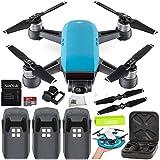 DJI Spark Portable Mini Drone Quadcopter Ultimate Palm Landing Pad Bundle (Sky Blue)