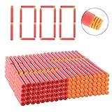 Goshfun 1000Pcs High Buffered Refill Foam Darts Foam Bullets for Nerf N-Strike Elite Blaster - Orange Head + Red Sponge