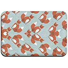 Funny Fox Pattern Outdoor Bathroom Mats 2416 Inch Door Mat