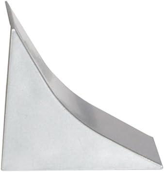HOLZBRINK Acabado de Copete de Encimera Negro List/ón de Acabado PVC Copete de Encimeras de Cocina 23x23 mm