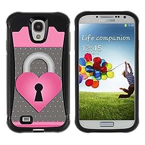 "Hypernova Defender Series TPU protection Cas Case Coque pour Samsung Galaxy S4 IV I9500 [Corazón del lunar Rosa Gris""]"