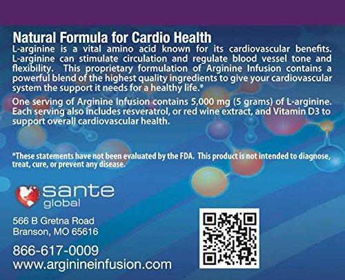 L-Arginine Infusion Jumbo Jar 66oz = 6 11oz jars - Natural formula for Cardio Health 5000mg L-Arginine, 1000mg L-Citrulline, 50mg CoQ10, & 50mg AstraGinTM Per Serving