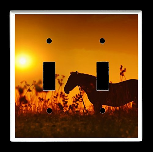 gle) Light Switch Plate Cover - Horses - Horse Design #0216 (Horse Party Lights)