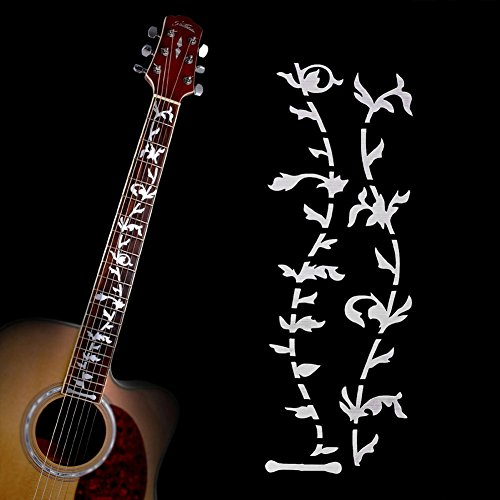 Chinatera Tree of Life Music Guitar DIY Neck Fretboard Fret Inlay Sticker/Stikers Silver for Acoustic/Electric Guitar Bass