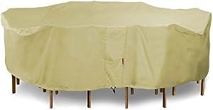Eevelle Portofino Patio Rectangular Table Set Cover | Tan (X-Large)
