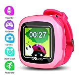 PHRtoy Smart Game Watch for Kids,[10 Games][Camera][Alarm Clock][Pedometer] Game Smart Watch - Nice Birthday Gift for Kids, Girls and Boys (Pink)