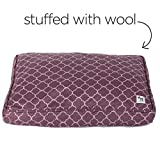 The Sheepy Wool-Filled Dog Bed (Royals, 36″ x 24″ x 2.5″)