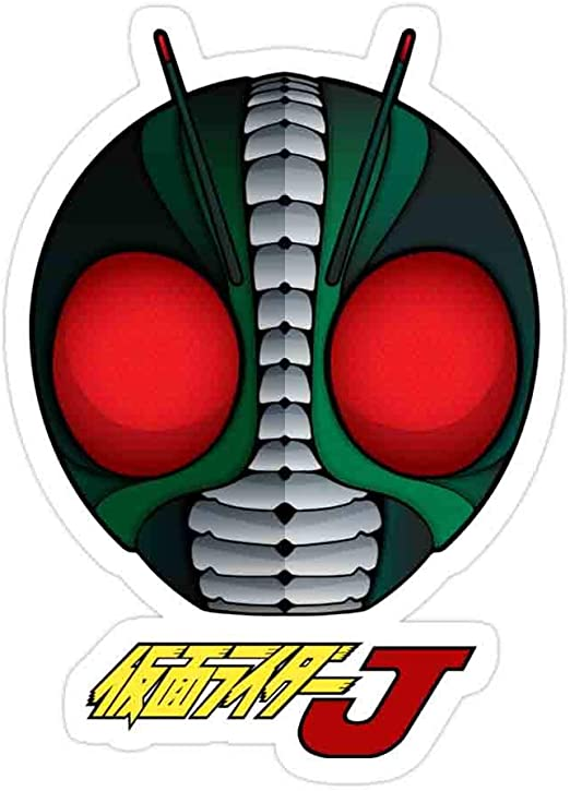 Elizabeth (3 PCs/Pack) Kamen Rider J Masked Rider Jei 3x4 Inch Die-Cut Stickers Decals for Laptop Window Car Bumper Helmet Water Bottle