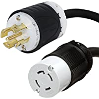 NEMA L21-30P to L14-30R Plug Adapter - 1 Foot, 30 Amps, 120/208V, 10 AWG - Iron Box # IBX-7786-01