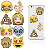 iDecoz ME992Dve Emoji Reusable Vinyl Decal Sticker Skin For All Cell Phones/Cases/iPhone 6/6 Plus/6S/6S Plus/SE /Galaxy/MacBook/Laptop/iPad/Car/Wall and More (More Emoji)