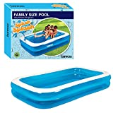 Gardenkraft 2m Garden Inflatable Rectangular Swimming Pool (Medium)