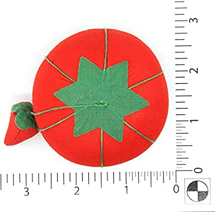 3//4-Inch Dritz Tomaten Nadelkissen mit Schmirgel Tomaten-Nadelkissen mit Schmirgler Size 2