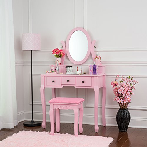 Fineboard Dressing Table (Pink)