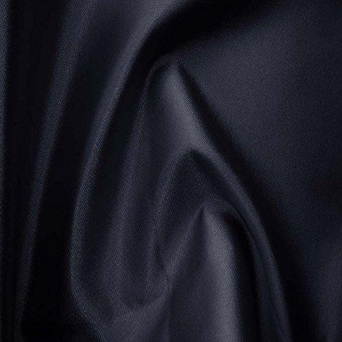 Reversible Silk Wool 18 MidnightNavy Fabric