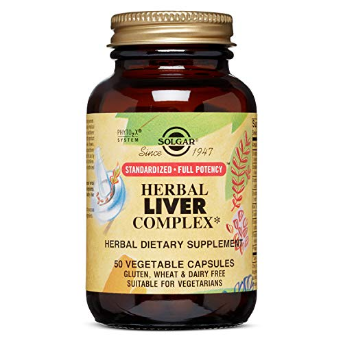 Solgar - Standardized Full Potency Herbal Liver Complex, 50 Vegetable Capsules