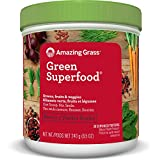 Amazing Grass Green Superfood Organic Powder with Wheat Grass and Greens, Flavor: Berry 30 Servings, 8.5 Ounces