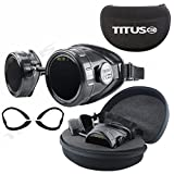TITUS Welding Goggles Full Kit Storage Case Industrial Steampunk Style Arc Weld Safety ANSI Z87.1, EN175 Compliant (With Pouch, IR #11)