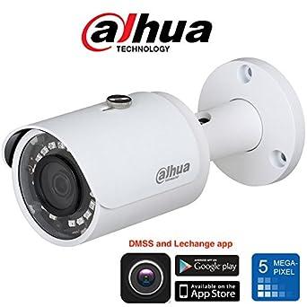 Dahua Cámara Bala 5mpx, Full HD h.265 + óptica 2,8 mm IR 30 m IPC hfw1531s Dahua: Amazon.es: Industria, empresas y ciencia